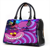 Alice Wonderland Cheshire Cat Nebula for Handbag Women Fashion ***