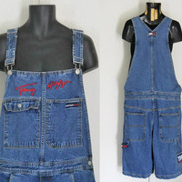 Men Overall Shorts Dungaree Denim Dungaree Blue Jean Overalls Over Alls Bib Overalls Overall Jeans 90s Overall Denim Shortall Tommy Hilfiger