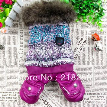 Retail New Coming Purple Luxury Pet Dogs Winter Coat Free Shipping By china post new clothing for dog