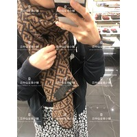 Fendi F logo autumn and winter new classic print pattern shawl big square scarf