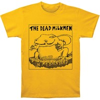 Dead Milkmen Men's  Big Lizard Slim Fit T-shirt Ginger