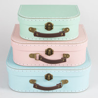 Pastel Retro Suitcases Set of 3 | Pastels & Brights | Sass & Belle