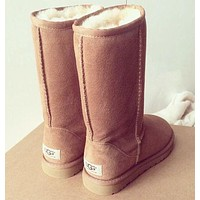 UGG Trending Women Men Winter Warm Snow Boots Classic Boots Wool Fur Boots High Boots Shoes I