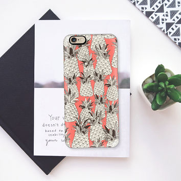pineapple blush coral iPhone 6s case by Sharon Turner | Casetify