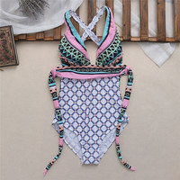 New Sexy Women One Piece Swimsuit Swimwear Monokini Push Up Padded Bathing Plus Size 2XL/3XL/4XL/5XL