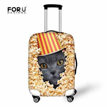 FORUDESIGNS Cute Cat Suitcase Cover Luggage Protective Cover for 18-30 Inch Trolley Suitcases Elastic Trunk Case Dust Covers New