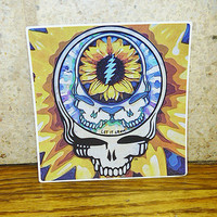Grateful Dead Sunflower SYF Vinyl Sticker -- 4 inches
