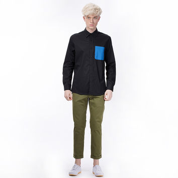 The Contrast Pocket Shirt in Black