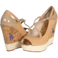 Cuce Shoes L.A. Dodgers Ladies Winning Wedge - Tan