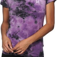 HUF Script Purple Crystal Wash T-Shirt