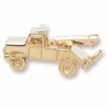 Tow Truck Charm in Yellow Gold Plated