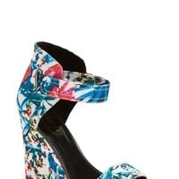 "Women's Nicole Miller 'Palm Beach' Wedge Sandal, 4"" heel"