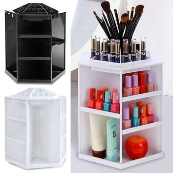 Spinning Cosmetic 360° Rotating Lipstick Makeup Organizer Rack