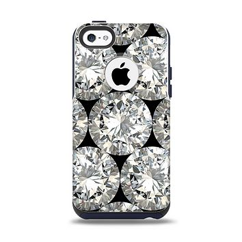 The Diamond Pattern Apple iPhone 5c Otterbox Commuter Case Skin Set