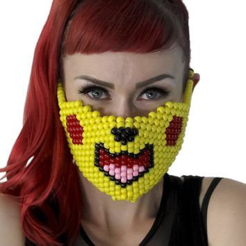 Pikachu Pokemon Kandi Mask Full Size
