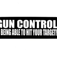 Motorcycle Helmet Sticker - Gun Control is Being Able to Hit Your Target!