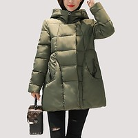 SWENEARO 2017 New women thick Warm coat hooded High Quality Cotton Padded winter jacket women ladies coats Winter Collection