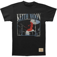 Who Men's  Keith Moon Drums Vintage T-shirt Black