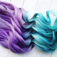 Pastel Ombre Hair,Tie dye Hair,Hair Extensions, Lavender a
