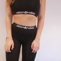 Reworked Adidas Style Sports Control Leggings