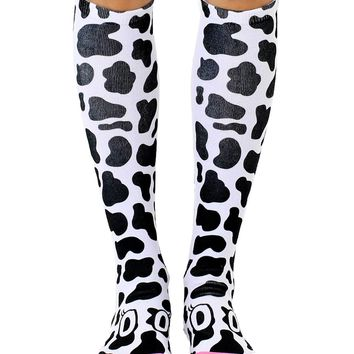 Cow Knee High Socks