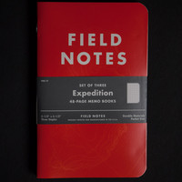 Field Notes Expedition Edition Water Resistant Notebook 3 Pack