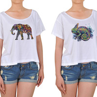 Girl  Chameleon  Printed Cotton Croptop WTS_08
