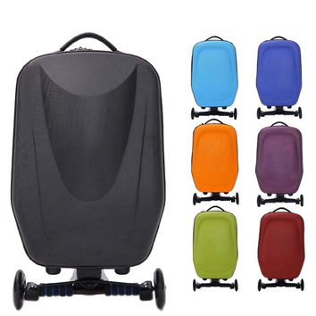 21inch Hard-Shell Wheeled  Luggage Suitcase with Skateboard for Travel Business