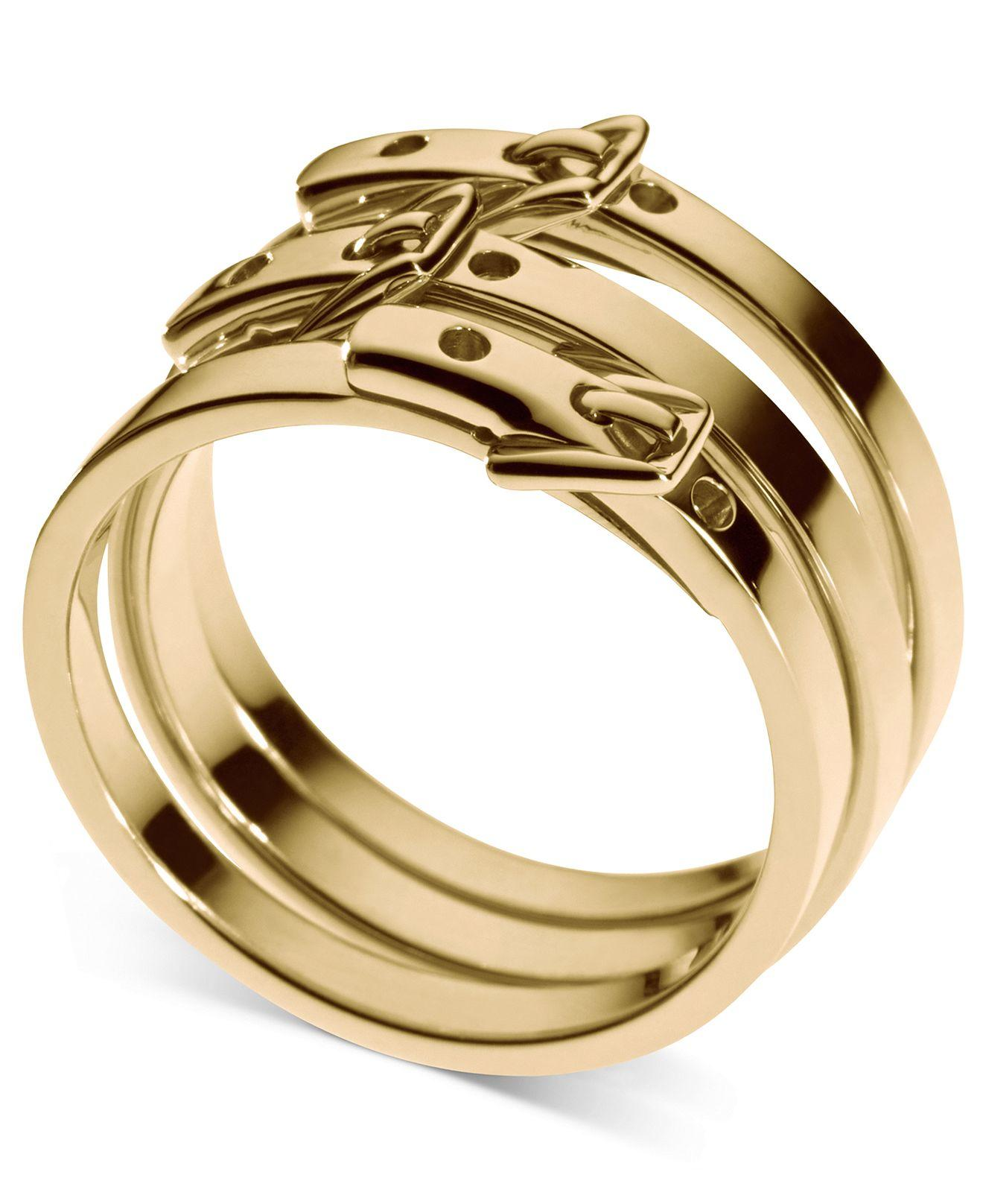 Michael Kors Ring Set Gold Ion Plated from Macys