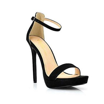Olivia and Jaymes Womenrsquos Ankle Strappy Open Peep Toe High Heels Shoes for Wedding Party Office USA