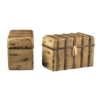 TRAVELLERS TRUNK BOOKENDS