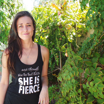 She Is Fierce Tank Top. Cute Workout Tanks. Cute Workout Shirt. Crossfit Clothing. Running Tank Top. Yoga Top. Cross Training Tank Top.