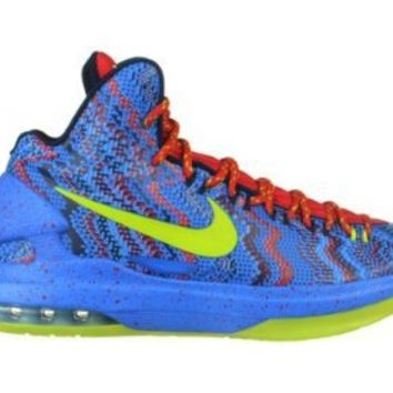 "Nike KD V ""Christmas"" Men's Basketball Shoes Blue/Neon Green/Red Blue/Neon Green/Red 554988-401-10"