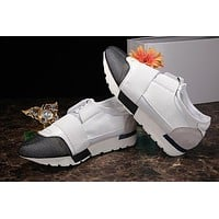BALENCIAGA Popular Women Men Casual Shoe Sneakers White Black I
