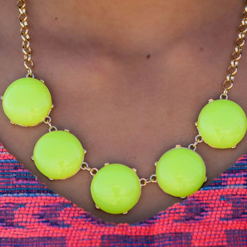 All The Little Lights Neon Yellow And Neon Pink Stone Necklaces