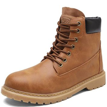 Men's High Quality PU Leather Working Boots