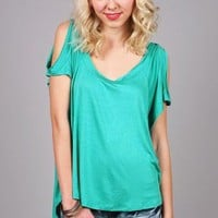Lazy Mac Tee - Cut Out Tops at Pinkice.com