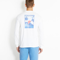 Long-Sleeve Lighthouse Graphic T-Shirt