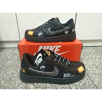 """""""Nike Air Force 1"""" Unisex Lover Casual Fashion Personality Graffiti Letter Plate Shoes Sneakers"""