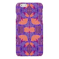 Art Deco - Bold Purple and Orange Glossy iPhone 6 Case