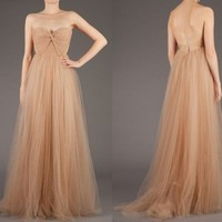 Charming sweetheart neckline tulle prom dress