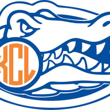 Florida Gators  Monogram Sticker ~ Custom ~ Vinyl ~ Decal ~ State