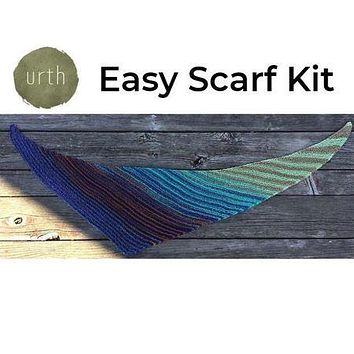 Easy Scarf Kit Featuring UrthYarns Uneek Cotton