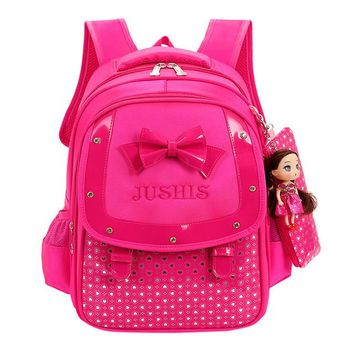 Toddler Backpack class 2018 Baby Girls Kids Bowknot Heart Dot Backpack Toddler School Bag 3Pcs Set Casual Cute #1 AT_50_3