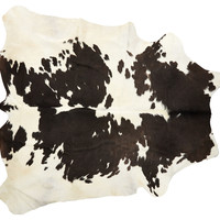 6'x7' Lulu Hide, White/Chocolate, Area Rugs