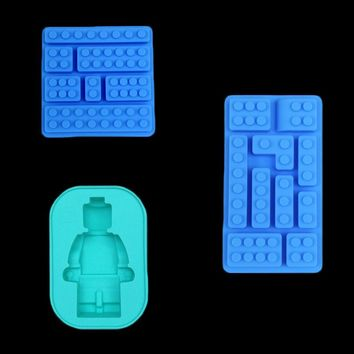 Mini Robot Ice Tray Mold Chocolate Cake Decor Jelly Jello Silicone Mold Soap Gum Cake Ice Grid Diy Kitchen Bakeware