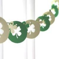 6 Foot St Patricks Day Shamrocks in Green and White by GFetti