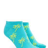 Palm Tree Graphic Ankle Socks
