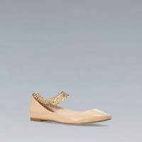 BALLERINA WITH ANKLE STRAP - Shoes - Woman - New collection - ZARA United States