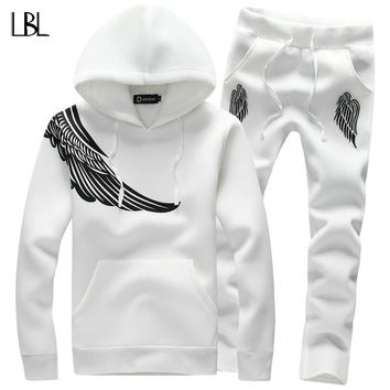 Long Sleeve Slim Sweat Suits Hoodies Tracksuit Sweatshirt
